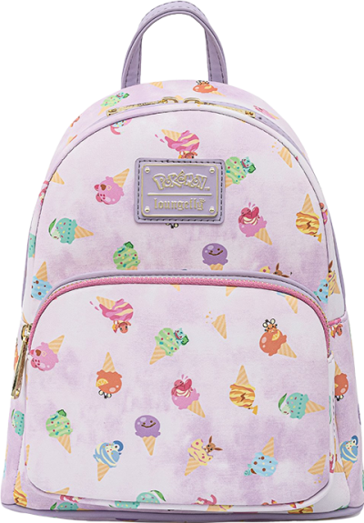 Pokémon Ice Cream Acid Wash Denim Mini Backpack Apparel