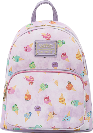 Pokémon Ice Cream Acid Wash Denim Mini Backpack Apparel