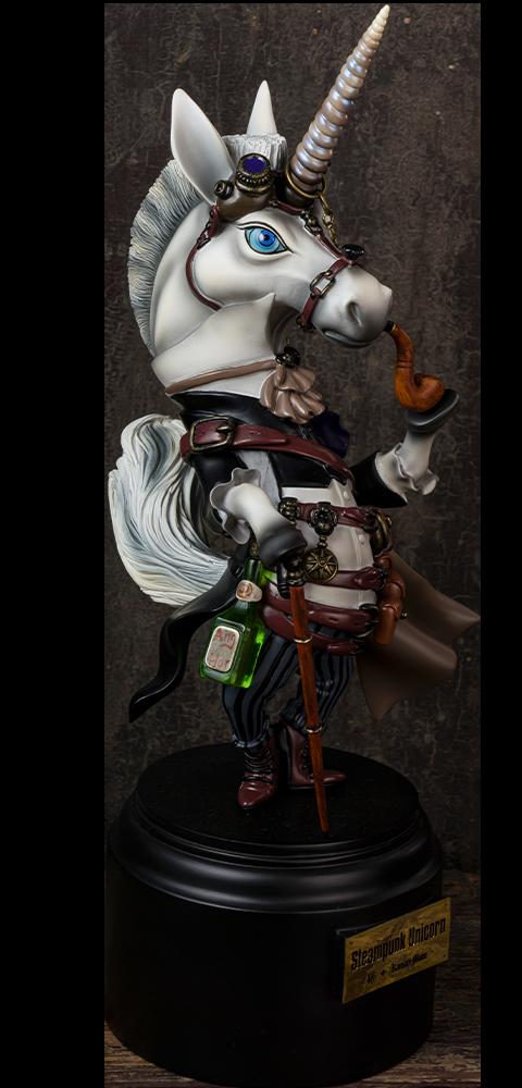 Manas SUM Steampunk Unicorn Statue