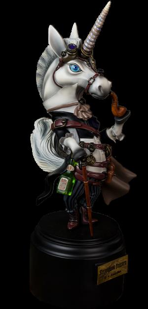 Steampunk Unicorn Statue
