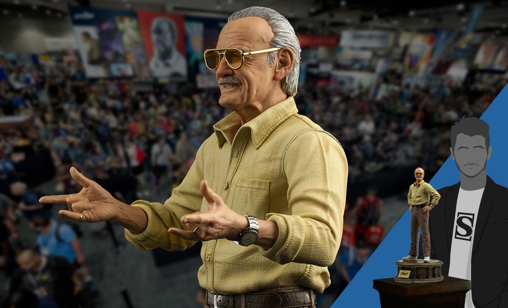 Gallery Feature Image of Stan Lee Pow! Statue - Click to open image gallery