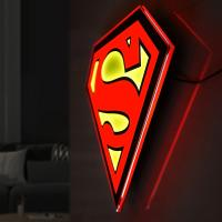 Gallery Image of Superman LED Logo Light (Regular) Wall Light