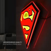 Gallery Image of Superman LED Logo Light (Large) Wall Light