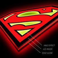 Gallery Image of Superman LED Logo Light (Large) Wall Light