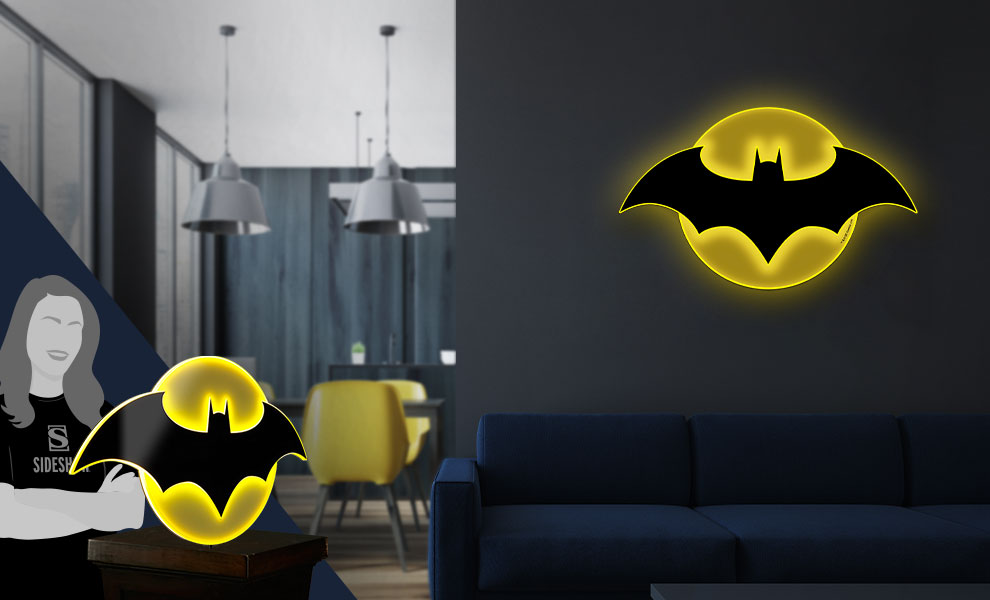 Gallery Feature Image of Batman LED Logo Light (Large) Wall Light - Click to open image gallery