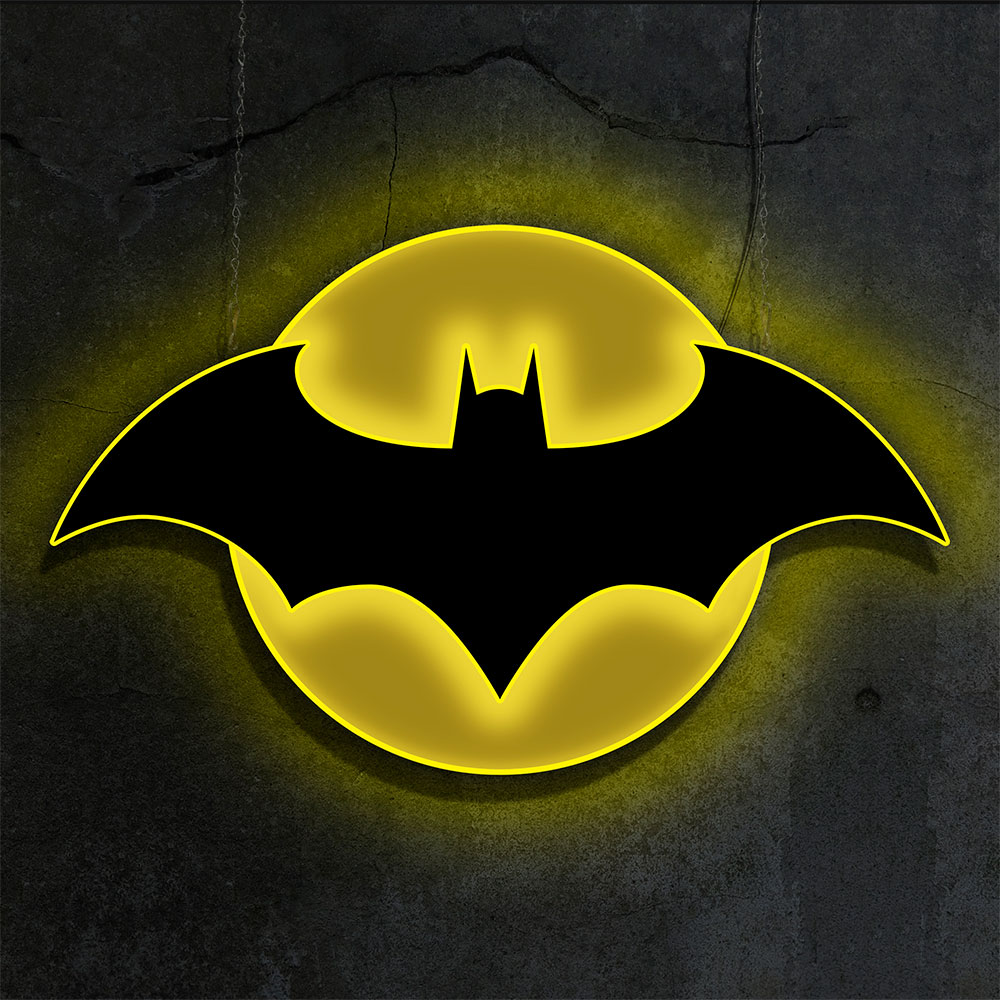 Batman Led Logo Wall Light Sideshow Collectibles