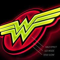 Gallery Image of Wonder Woman LED Logo Light (Regular) Wall Light