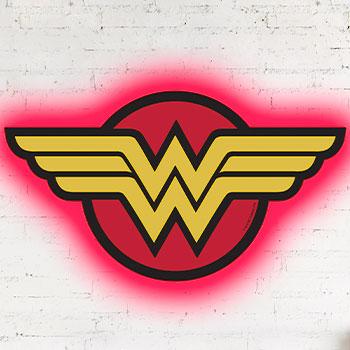 Wonder Woman LED Logo Light (Regular) Wall Light