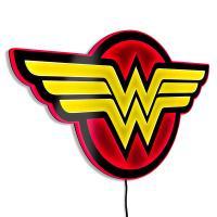 Gallery Image of Wonder Woman LED Logo Light (Large) Wall Light
