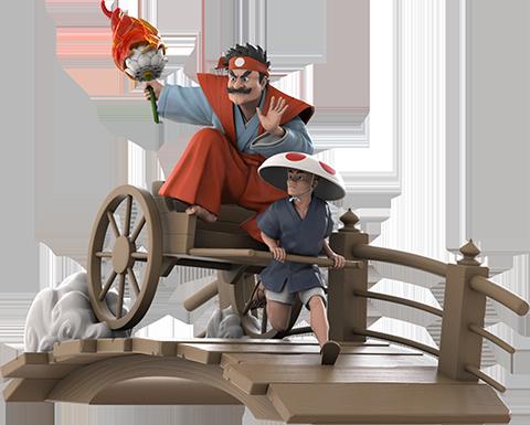Mighty Jaxx Ukiyo-E Rickshaw Kart: Mushroom Shogun Collectible Figure