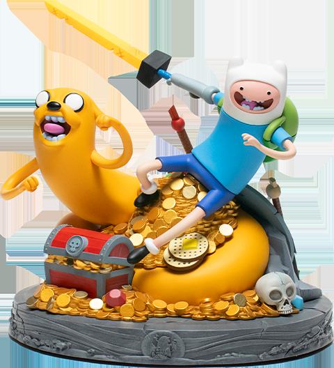 Mondo Adventure Time Jake and Finn Polystone Statue