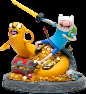 Adventure Time Jake and Finn Polystone Statue