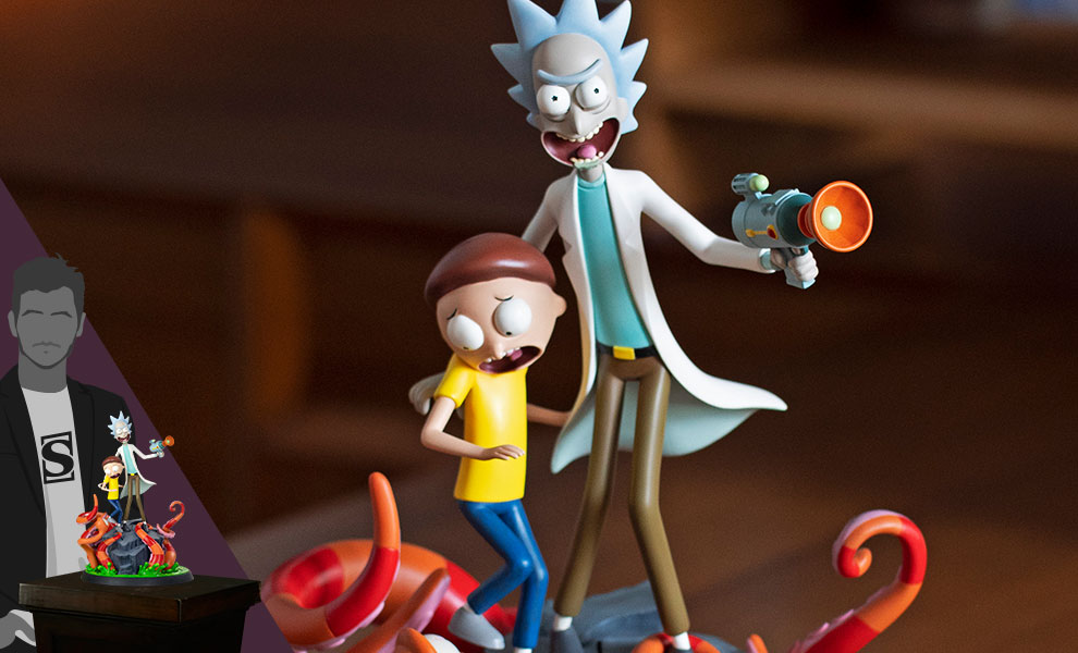 Gallery Feature Image of Rick and Morty Polystone Statue - Click to open image gallery
