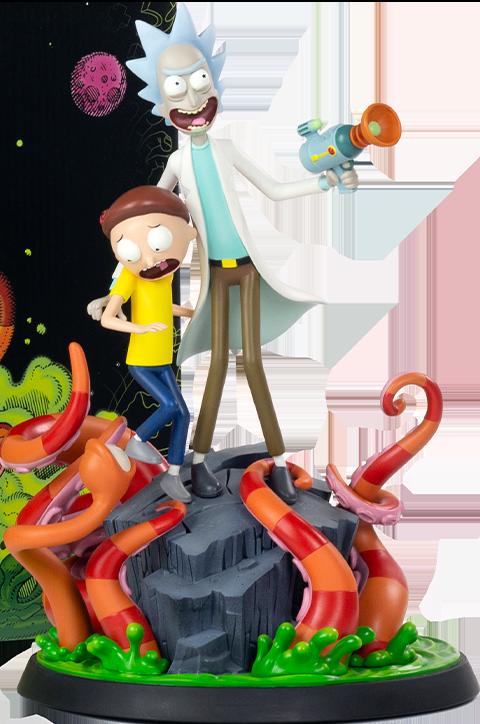 Mondo Rick and Morty Polystone Statue