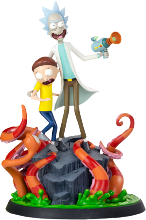 Rick and Morty Polystone Statue