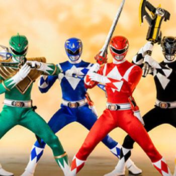 Core Rangers + Green Ranger Six Pack Mighty Morphin Power Rangers Collectible Set