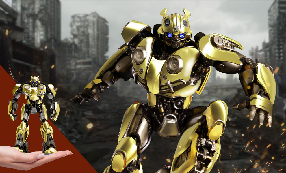 Gallery Feature Image of Bumblebee DLX (Gold Edition) Collectible Figure - Click to open image gallery
