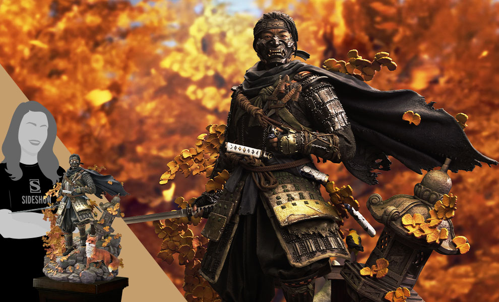 Gallery Feature Image of Jin Sakai, The Ghost (Ghost Armor Edition) Statue - Click to open image gallery