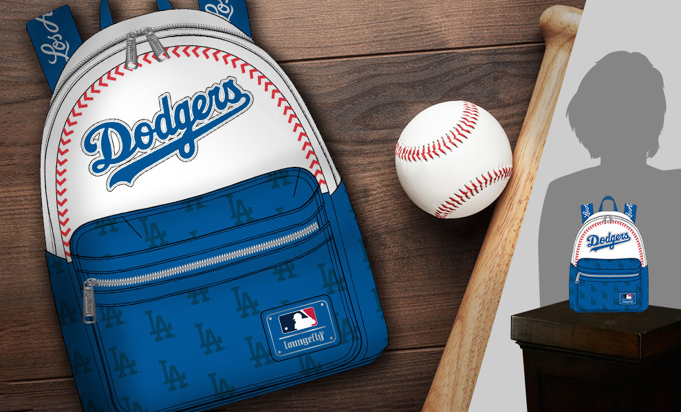 Gallery Feature Image of LA Dodgers Baseball Seam Stitch Mini Backpack Apparel - Click to open image gallery