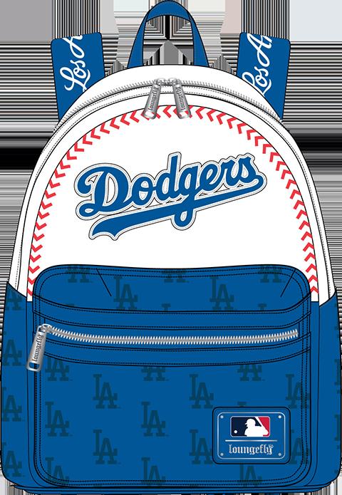 Loungefly LA Dodgers Baseball Seam Stitch Mini Backpack Apparel