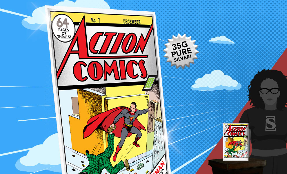 Gallery Feature Image of Action Comics #7 Silver Foil Silver Collectible - Click to open image gallery
