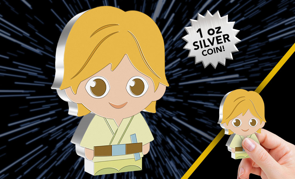 Gallery Feature Image of Luke Skywalker 1oz Silver Coin Silver Collectible - Click to open image gallery