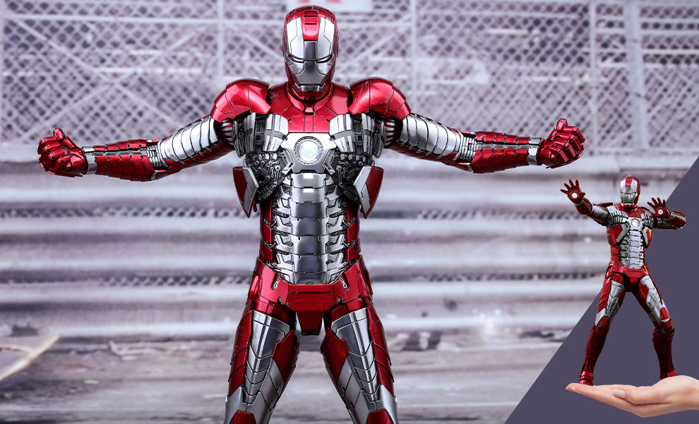 Gallery Feature Image of Iron Man Mark V Sixth Scale Figure - Click to open image gallery