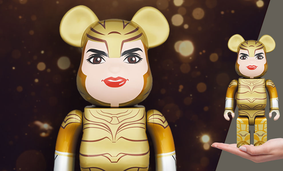 Gallery Feature Image of Be@rbrick Wonder Woman Golden Armor 400% Collectible Figure - Click to open image gallery