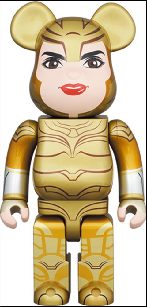 Medicom Toy Be@rbrick Wonder Woman Golden Armor 400% Collectible Figure