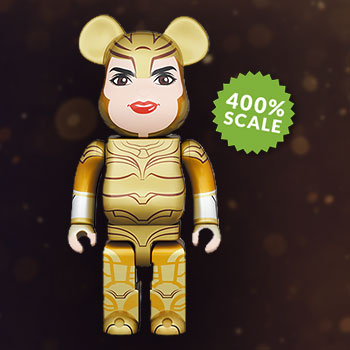 Be@rbrick Wonder Woman Golden Armor 400% Bearbrick