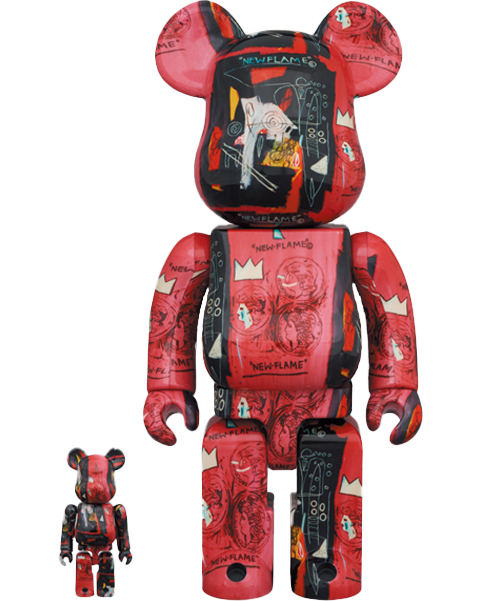 Medicom Toy Be@rbrick Andy Warhol X Jean Michel Basquiat #1 100% & 400% Collectible Set