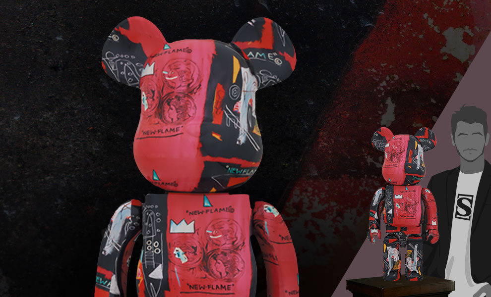 Gallery Feature Image of Be@rbrick Andy Warhol X Jean Michel Basquiat #1 1000% Bearbrick - Click to open image gallery