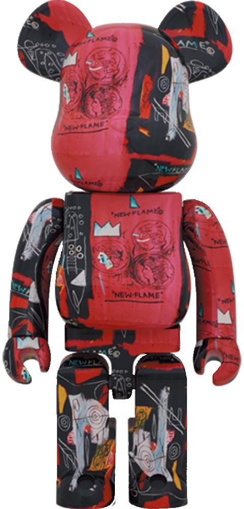 Medicom Toy Be@rbrick Andy Warhol X Jean Michel Basquiat #1 1000% Bearbrick
