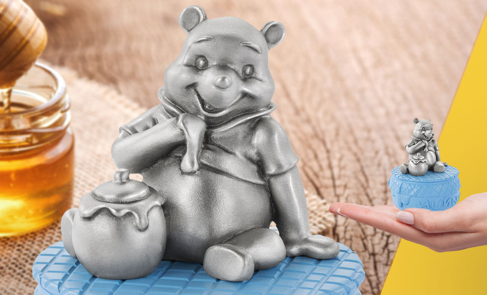 Gallery Feature Image of Winnie The Pooh and Honeypot Musical Carousel Pewter Collectible - Click to open image gallery