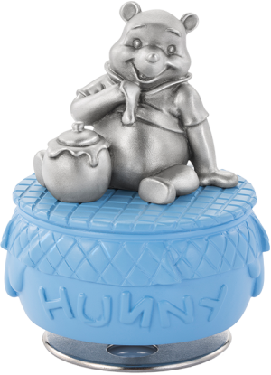 Winnie The Pooh and Honeypot Musical Carousel Pewter Collectible