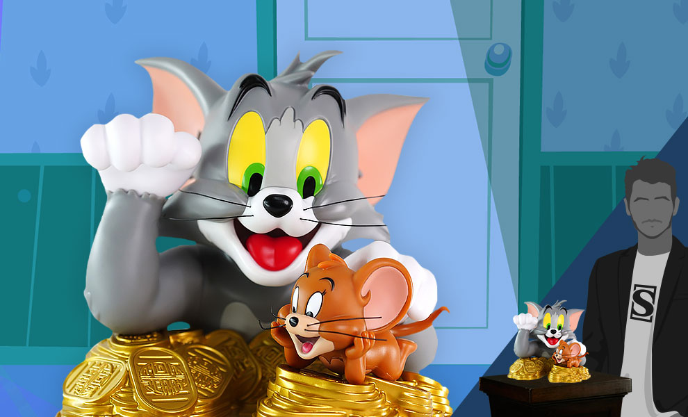 Gallery Feature Image of Tom And Jerry Maneki-Neko (Classic Version) Bust - Click to open image gallery