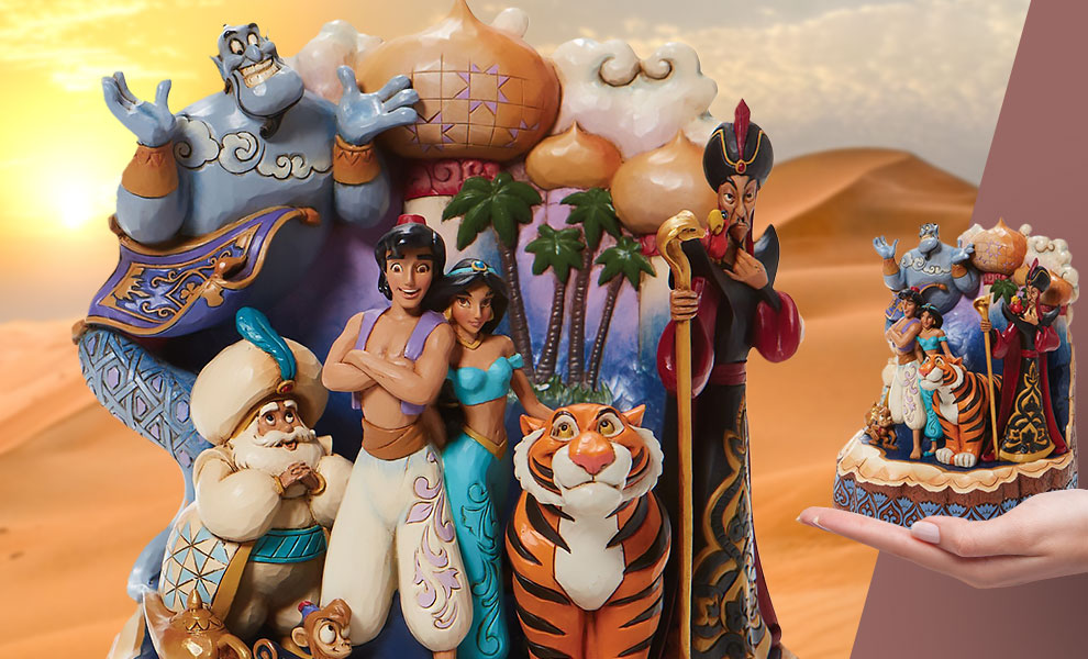 Gallery Feature Image of Carved by Heart Aladdin Polyresin Figure - Click to open image gallery