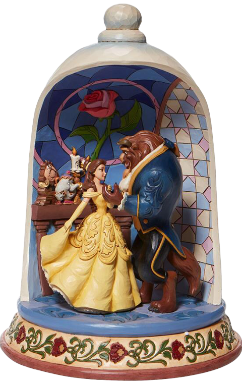 Enesco, LLC Beauty and the Beast Rose Dome Polyresin Figure