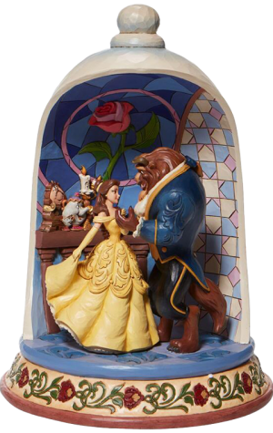 Beauty and the Beast Rose Dome Polyresin Figure