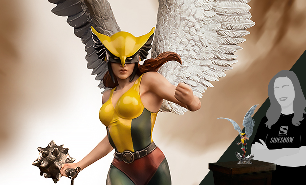 Gallery Feature Image of Hawkgirl (Deluxe) Statue - Click to open image gallery