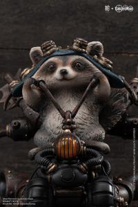 Gallery Image of Steel Raccoon Statue