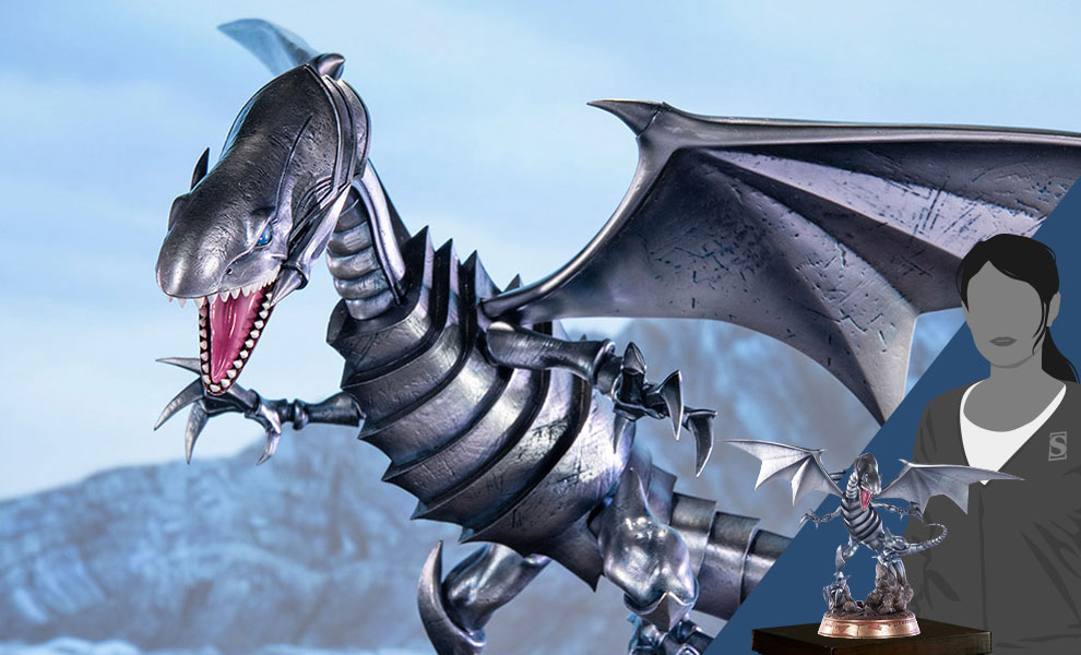 Gallery Feature Image of Blue-Eyes White Dragon (Silver Variant) Statue - Click to open image gallery