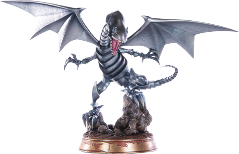 First 4 Figures Blue-Eyes White Dragon (Silver Variant) Statue
