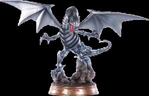 Blue-Eyes White Dragon (Silver Variant) Statue