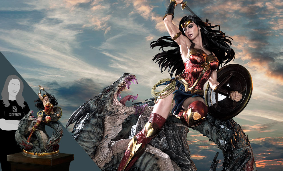 Gallery Feature Image of Wonder Woman VS Hydra Statue - Click to open image gallery