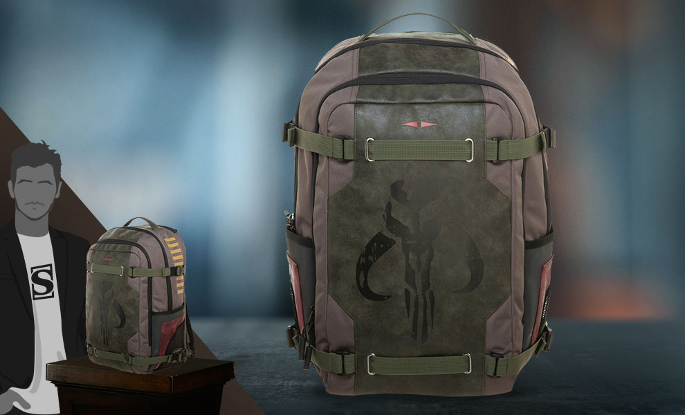 Gallery Feature Image of Boba Fett Backpack Apparel - Click to open image gallery