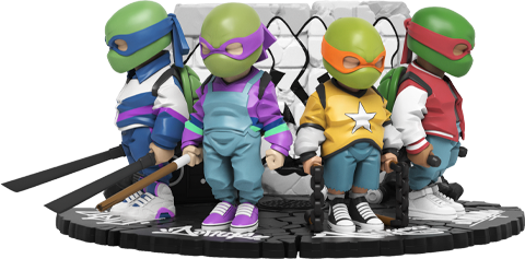 Mighty Jaxx Teenage Mutant Ninja Turtles Collectible Set