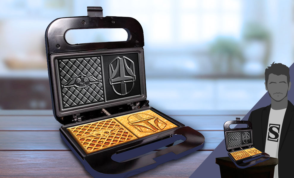 Gallery Feature Image of The Child and Mandalorian Dual Square Waffle Maker Kitchenware - Click to open image gallery