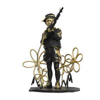 Gallery Image of Crayon Shooter (LA Gold Edition) Polystone Statue