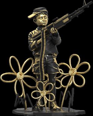 Crayon Shooter (LA Gold Edition) Polystone Statue